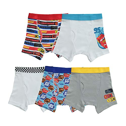 Disney Cars 5 Pack Boxer Brief Toddler Boy