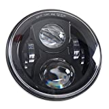 7' LED Headlight For Harley Davidson Motorcycle Projector LED Light Bulb For Jeep Wrangler JK LJ CJ Headlamp Black