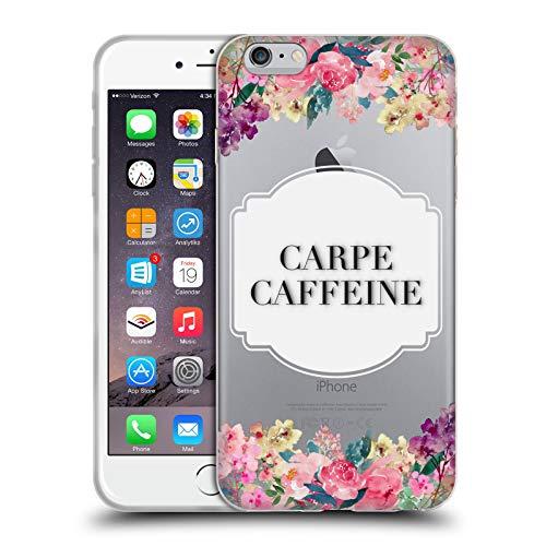 Head Case Designs Licenciado Oficialmente Monika Strigel Cafeína Carpe Flores Y Citas Carcasa de Gel de Silicona Compatible con Apple iPhone 6 Plus/iPhone 6s Plus