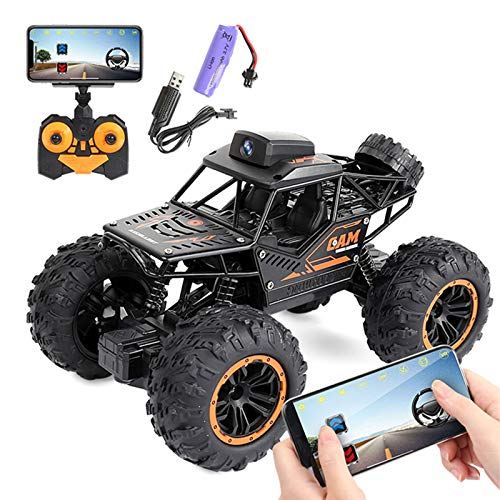 SDDS High-Speed Remote Control Drift Car, 2.4G Controller App Remote Control WiFi Camera 4WD Double Steering Buggy, Best Gift for Adult Children Beginners Climbing Car