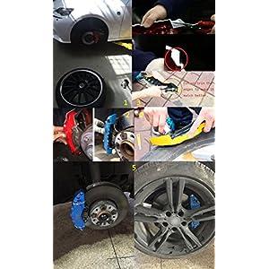LeadChange 4x customize Red Caliper cover kit Black label AMG For Mercedes Benz Car Class C GLA GLE GLK GL CLA SLK SL ML GLA A B E Brake Styling Decoration 4pcs/Lot