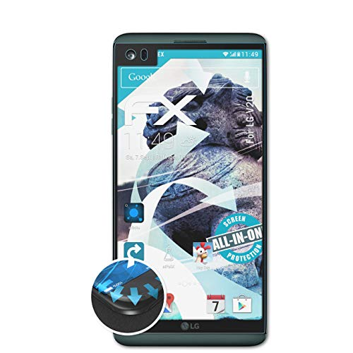 atFolix Schutzfolie kompatibel mit LG V20 Folie, ultraklare & Flexible FX Bildschirmschutzfolie (3X)