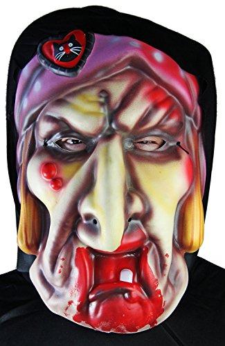 XXL Halloween Maske HEXE Kostüm ZAUBERWALD