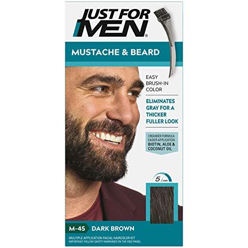 Top 10 Best just for men mustache and beard medium brown Reviews
