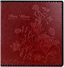 Beautyus Photo Album Book, Family Album, Leather Cover, Holds 3x5, 4x6, 5x7, 6x8, 8x10 Photos (Wine Red)
