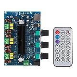 Placa amplificadora digital, módulo amplificador de volumen de 2.1 canales clase D de alta potencia DC 12-24V para decodificador de audio Bluetooth