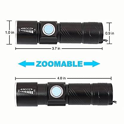 DARKBEAM Blacklight Flashlights USB Rechargeable Portable 395nm Led Flashlight Mini Handheld Torch Black Light Detector for Dog Urine, Pet Stains (395 UV USB Flashlight 2pack) 6