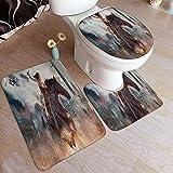 Cute Phones Wonder Woman - Juego de alfombrillas de baño (3...