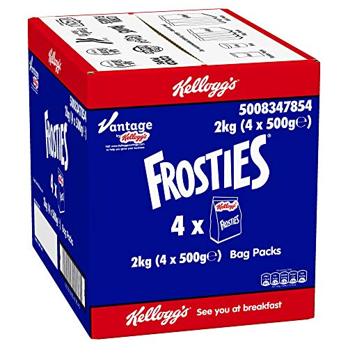 Kelloggs Frosties Cereal Bag Pack - Pack Size = 4x500g