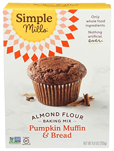 Simple Mills Almond Flour Baking Mix, Gluten Free Pumpkin Bread Mix 9oz