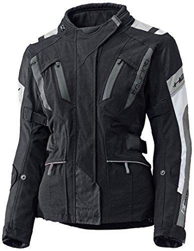 Held 4-Touring Damen Motorrad Textiljacke, Farbe schwarz-grau, Größe DXS