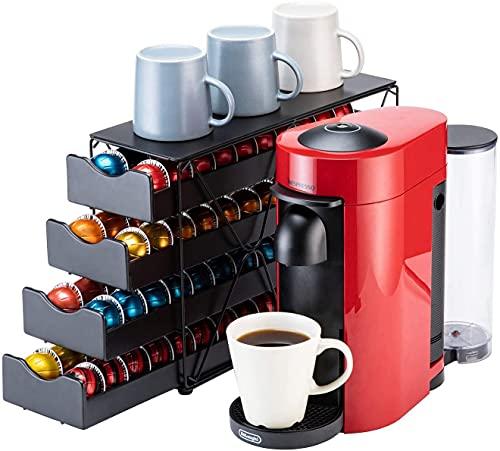 Bagoo Support à dosettes de café pour tiroir Nespresso Vertuoline à plusieurs étages pour rangement de capsules Vertuo (4 niveaux)