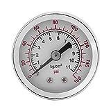 Manomètre, manomètre pour eau, huile, 0-160PSI 1 / 8NPT Manomètre de pression pour Eau Liquide Carburant Huile Air, Manomètre de haute précision