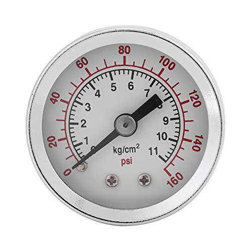 Manomètre, 0-160PSI 1/8NPT Manomètre Hydraulique Manomètre à Air Huile Eau pour la Mesure de la Bar