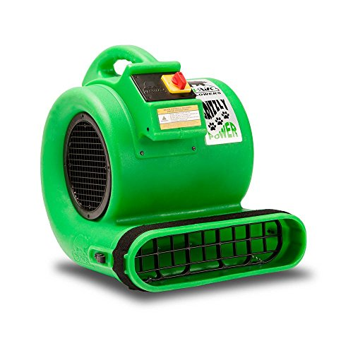 B-Air Grizzly GP-1 1 HP Air Grizzly Mover Carpet Dryer Floor Fan, for Water Damage Restoration and Pet Cage, Dryer Green