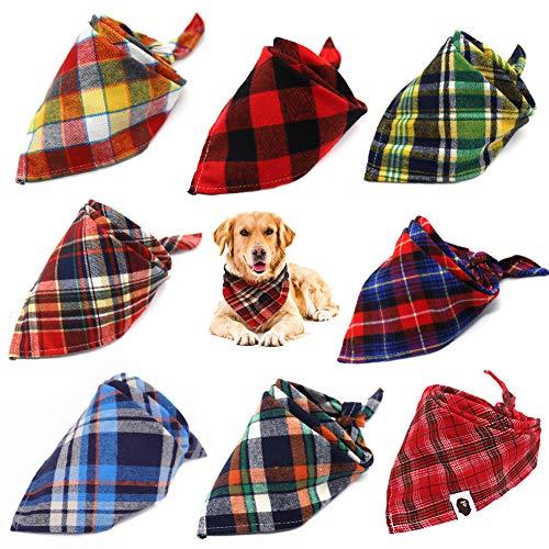 WENTS Hundehalstuch 8 Stück Hund Halstuch Kragen Kopftücher Haustier Stilvolle Halstuch Hund Geburtstags Party Dekoration Hund Zubehör für Kleine Mittelgroße und Große Hunde