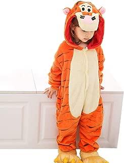 Sleepwear Girl Pajamas Winter Thickening Boy Pajamas Living Room Home Improvement Children's Long-Sleeved Pajamas Autumn Girls Costumes (Color : Orange, Size : 100cm)