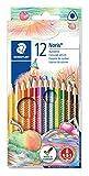 Staedler 127NC12 - Caja con 12 lápices de triangulares, multicolor