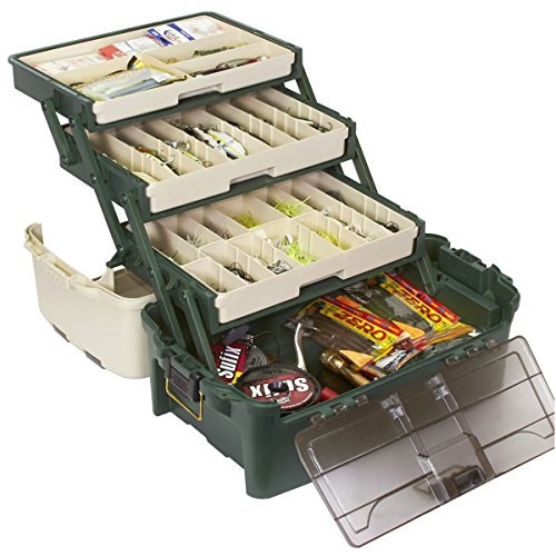 Plano 3113305 PLANO Tackle Systems Hybrid Hip 3 Tray Box, White/Green, Premium Tackle Storage