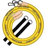 INERTIA WAVE - Battle Rope - Cuerda de Batalla con Anclaje y Agarres de Goma Antideslizantes - 3m y 1,4kg - Optimiza Tus Entrenamientos Combinando Fuerza, Resistencia y Coordinación - Amarillo