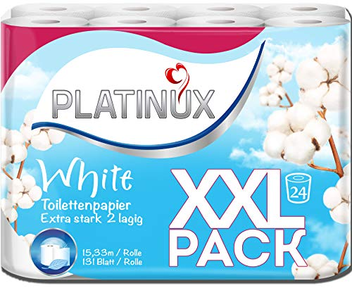 Toilettenpapier 24 Rollen Extra Stark Wc Papier 2-Lagig Klopapier Kartonversand XXL Familienpackung