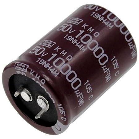 100/µF Snap-in Condensateur Electrolytique 400V DC Radial /Ø25x25mm Aerzetix C44291 /±20/%