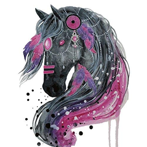 Jiamins 1 Stück Patch Sticker - Pferd DIY Druck Stickerei Applikation Für Decoreting Und Patching Jacket, T-Shirt, Jeans, Hut, Kleid (21cm X 26cm)