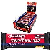 enervit competition bar energy bar | barretta energetica/power senza glutine per sport di resistenza | ciclismo, corsa, triathlon | (red fruit, confezione risparmio da 25 x 30 g)