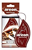 AREON MON Modern Design Hanging Car Air Freshener, Coffee Scent - Pack of 12