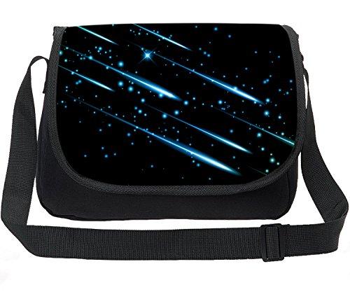 CAIWEI Retro Canvas Borsa a tracolla per laptop Borsa per notebook Borsa a tracolla Schoolbag Stampa Cosmic Space Fashion Borsa a spalla Maxi Galaxy modello … (Cielo stellato 1)