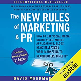 The New Rules of Marketing & PR, 6th Edition audiobook cover art