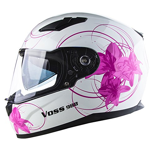 Voss 988 Moto-1 Lily Graphic Street Helmet