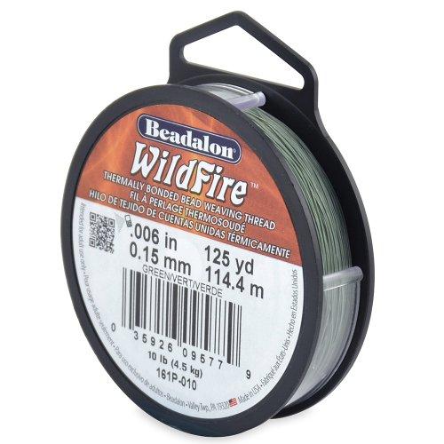 Beadalon Wildfire 0,006 Zoll Grün