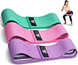 CFX Resistance Bands Set, Exercise Bands with Non-Slip Design for Hips & Glutes, 3 Levels Workout Bands for Women and Men, Booty Bands for Home Fitness, Yoga, Pilates