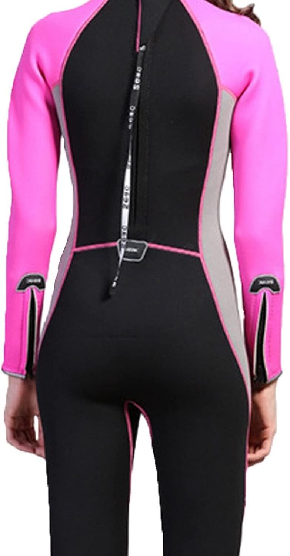 アウトドアスポーツアクセサリー 女性のためのシュノーケリングとスイミングフルボディ暖かいウェットスーツバックジッパーフルダイビングスーツダイビングスポーツスキン (サイズ : S)