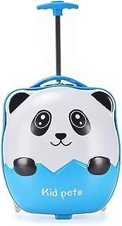 YCYHMYF 16-inch Stereo Panda Trolley case 3D Cartoon Cute Children's Suitcase Elementary School Students Drag Box Blue