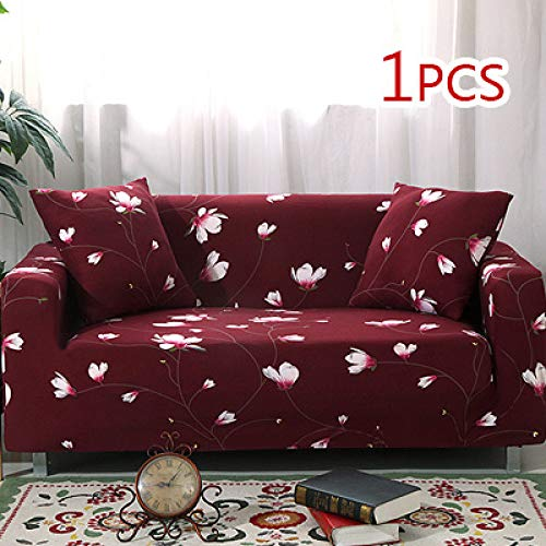 WAXCC Kreuzmuster Elastic Stretch Universal Sofabezug Sofa Eckbezug Home Decoration, 9, viersitziges Sofa
