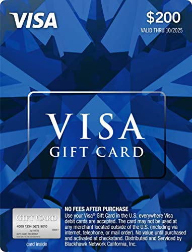 $200 Visa Gift Card (plus $6.95 Purchase Fee)