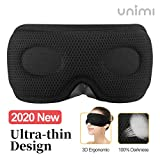 Unimi New Design Sleep Mask for Women Men,Ultra Thin 3D Light Blocking Eye Mask, Soft Lycra...