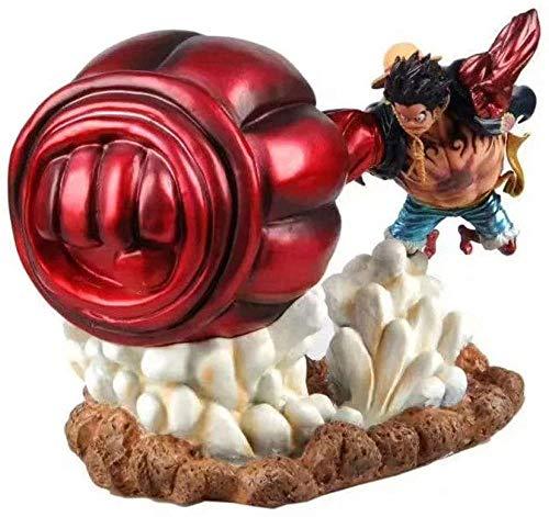 One Piece Anime 4ª Marcha Luffy transforma 4th Gear Luffy Big Mano Figura Muñecas Decoración Premium Versión Estatua Muñeca Escultura Juguete Altura 20 cm