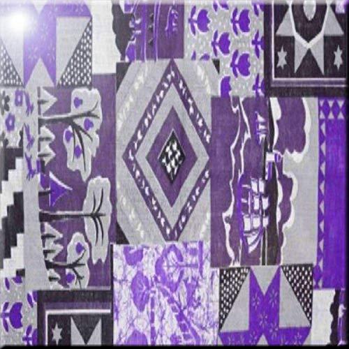 "Rikki Caballero púrpura diseño Colcha de retales de cerámica Arte del azulejo, 6""x 6"""