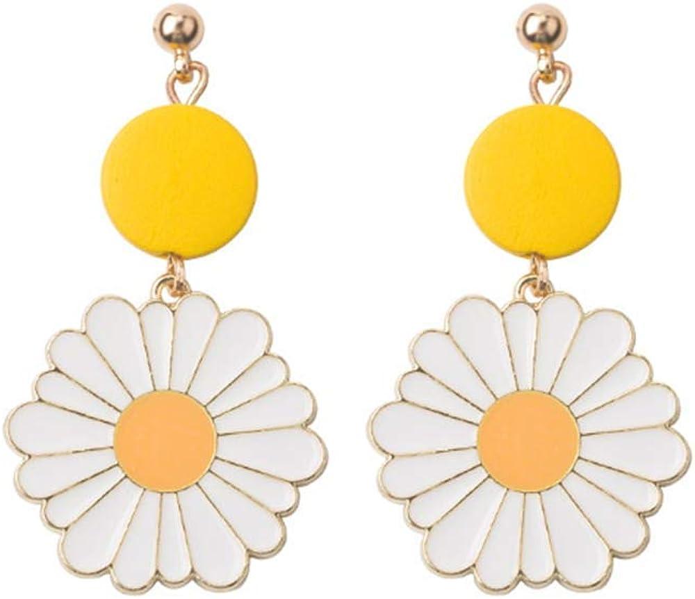 YIZHEN Sweet Daisy Sunflower Dangle Drop Earrings Summer Flower Jewelry for Women Girls