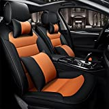 SEAT COVERS RUIRUI Coprisedili Copertura Protezioni in Pelle di Cuscino per Auto Quattro Stagioni,...