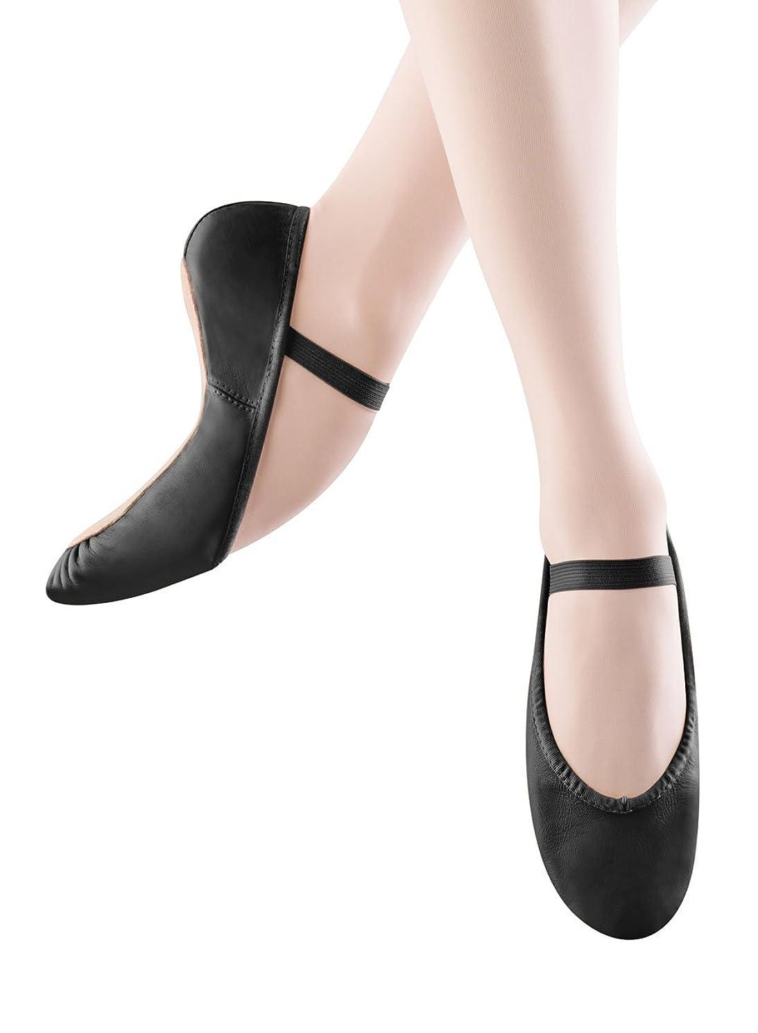Bloch Dance Women's Dansoft Full Sole Leather Ballet Slipper/Shoe, Black, 3 Medium