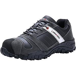51q 3wj p0L. SS300  - LARNMERN LM-18 - Zapatos de seguridad para hombre, con puntera de acero, suela de acero, antideslizantes, transpirables, cómodos