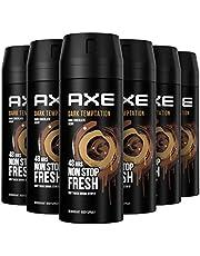 Axe Dark Temptation Deodorant Bodyspray, 6 x 150ml, Voordeelverpakking