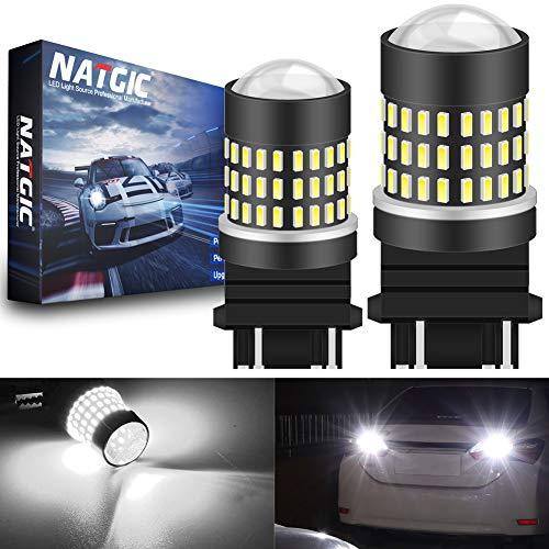 NATGIC 3157 3156 3057 4157 LED Ampoules Blanc xenon 1800LM 3014SMD 78-EX Projecteur pour lentilles pour objectif de freinage pour feux de stop stop de frein, 12-24V (lot de 2)