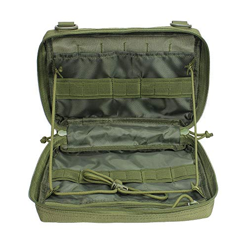 Zdmathe Outdoor EDC Molle Tactical Pouch Bag Emergency First Aid Kit Bag Wear-Resistant Waist Pack Travel Camping Hiking Climbing Storage Bags
