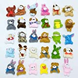 Mini Plush Animals Toy Set Stuffed Animals Gifts for Girls Boys, Goodie Bag Fillers Party Favors-30pack
