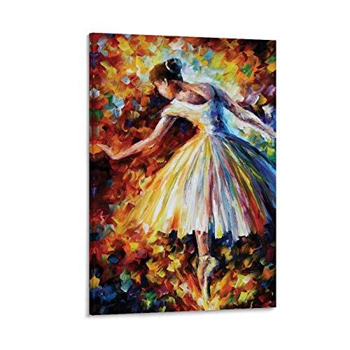 Póster de Leonid Afremov de Leonid Afremov con diseño de ballet de danza y lienzo de 30 x 45 cm